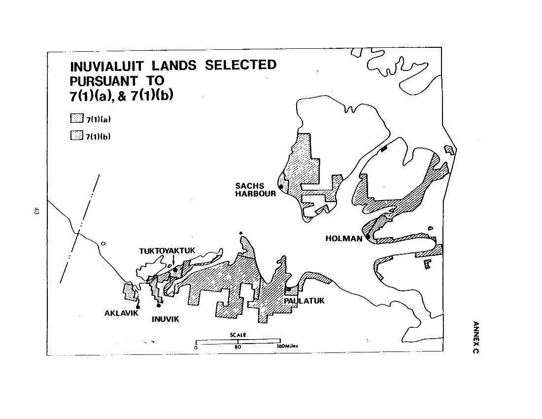 Inuvialuit Lands Selected Pursuant to 7(1)(b) (map)
