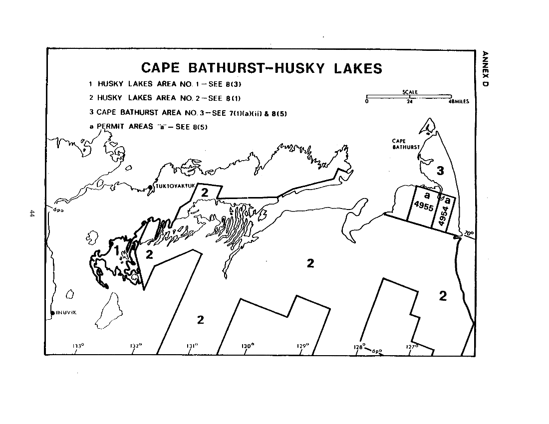 Husky Lakes / Cape Bathurst Areas (map)