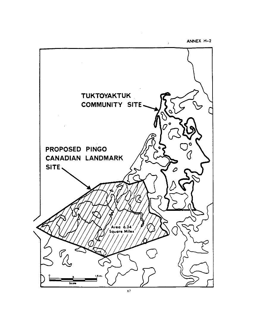 Tuktoyaktuk Community Site Proposed Pingo Cabadian Landmark Site (map)
