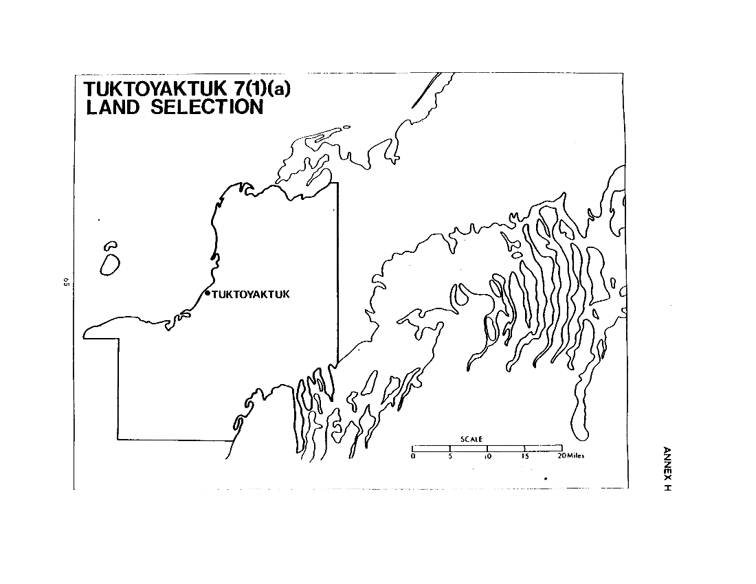 Tuktoyaktuk 7(1)(a) Land Selection (map)