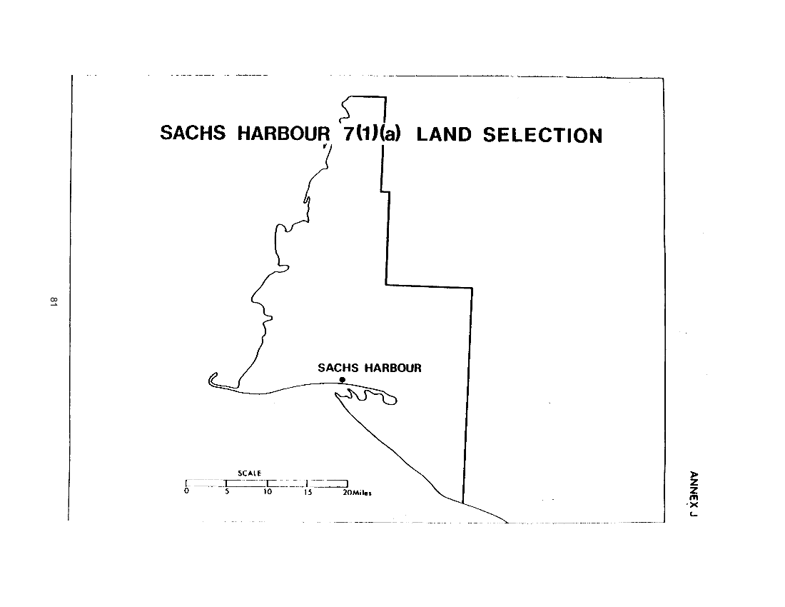 J. Sachs Harbour 7(1)(a) Land Selection (map)